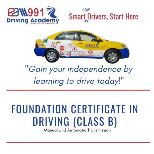 Class B Foundation Certificate in Driving