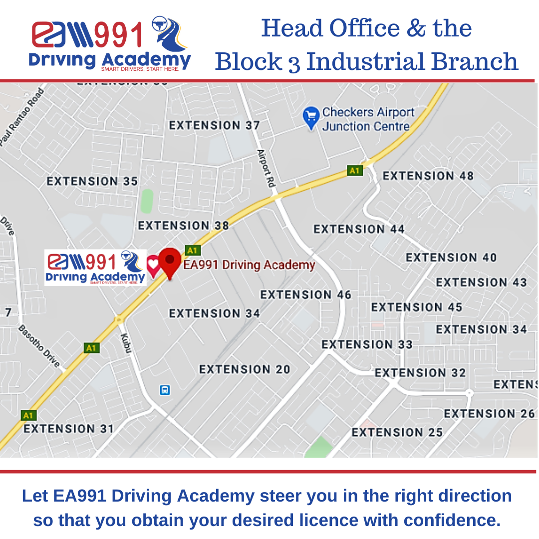 location Map EA991-Driving-Academy-Head-office-Gaborone