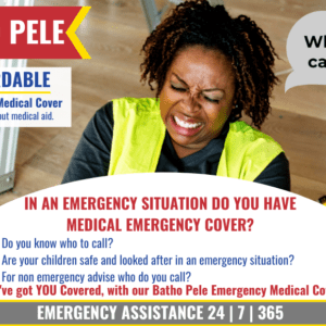 EA991 offers Emergency Medical Assistance Cover to persons and families who do not have Medical Aid.