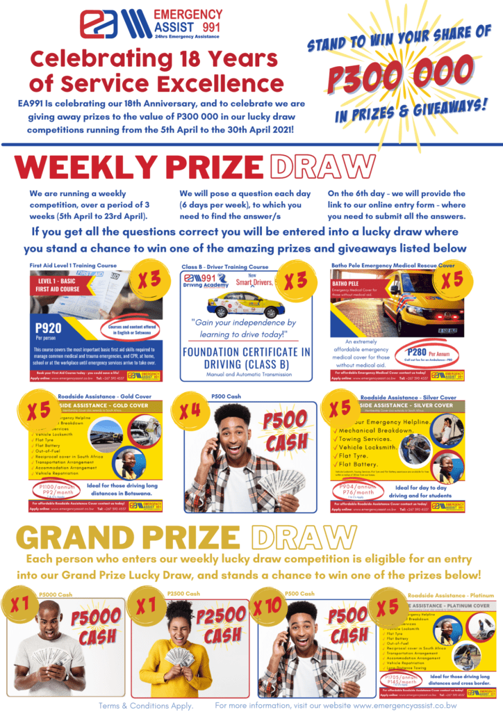 EA991 Celebrations Stand to win your share prizes and information